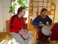 Trommler laden zum Tanz: Jürgen Engel und Alexandre Barbry