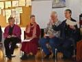 Petra Völker, Katharina Sander und Jens Hennings freuen sich über die Moderation von Conny Timm