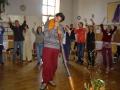 Mit einem Segenstanz in Begleitung des Didgeridou von Alexandre Barbry beschließen wir dankbar und erfüllt die Tagung